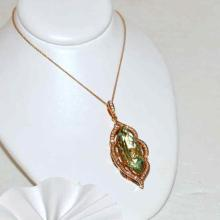 18k Rose Gold Beryl & Diamond Pendant By Levian