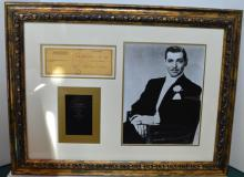 Clark Gable Framed Autograph
