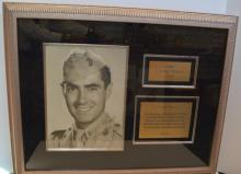 Framed Tyrone Power Autograph