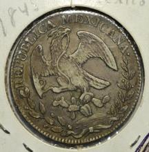 1845Pi AM Mexico Silver First Republic 8 Reales