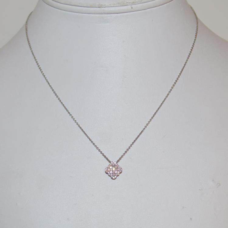 14kt white gold diamond cluster pendant for Gulf coast coin and jewelry