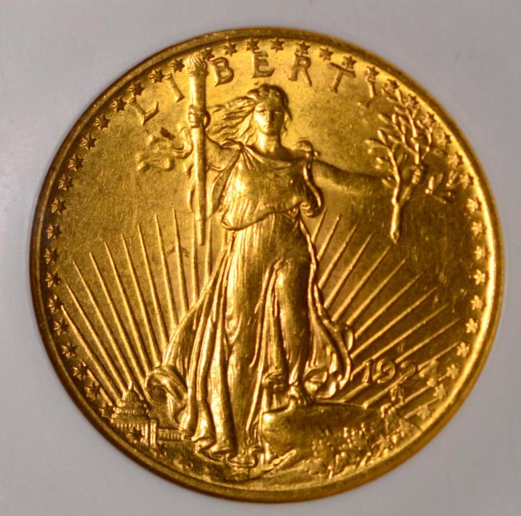 1924 20 saint gaudens gold double eagle ngc ms 62 for Gulf coast coin and jewelry