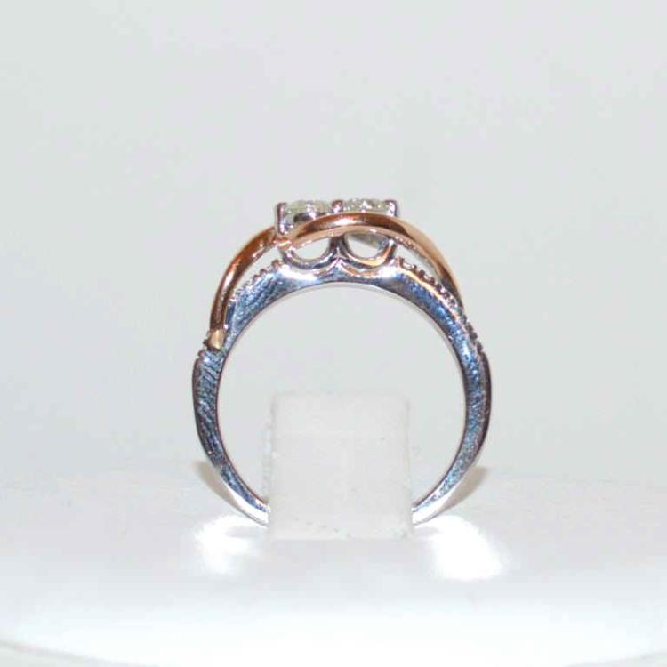 14kt two stone couples ring for Gulf coast coin and jewelry