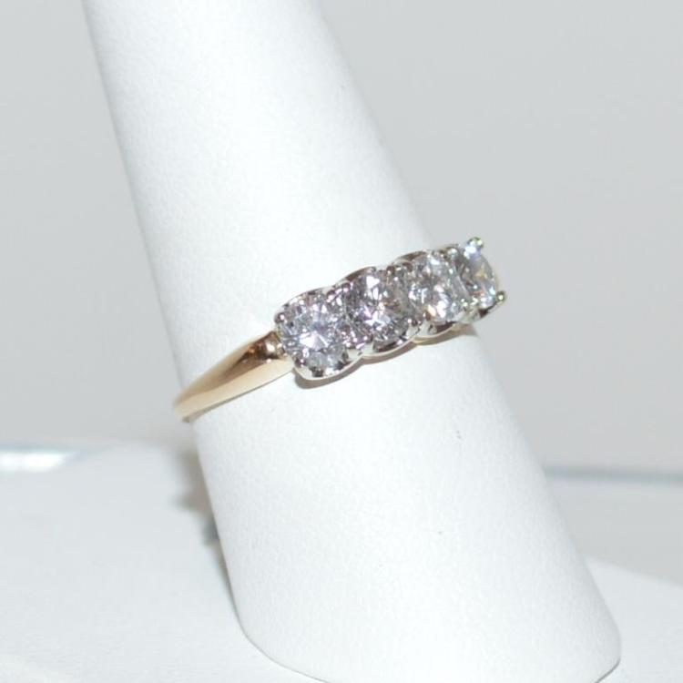 14kt yellow 4 stone anniversary ring for Gulf coast coin and jewelry