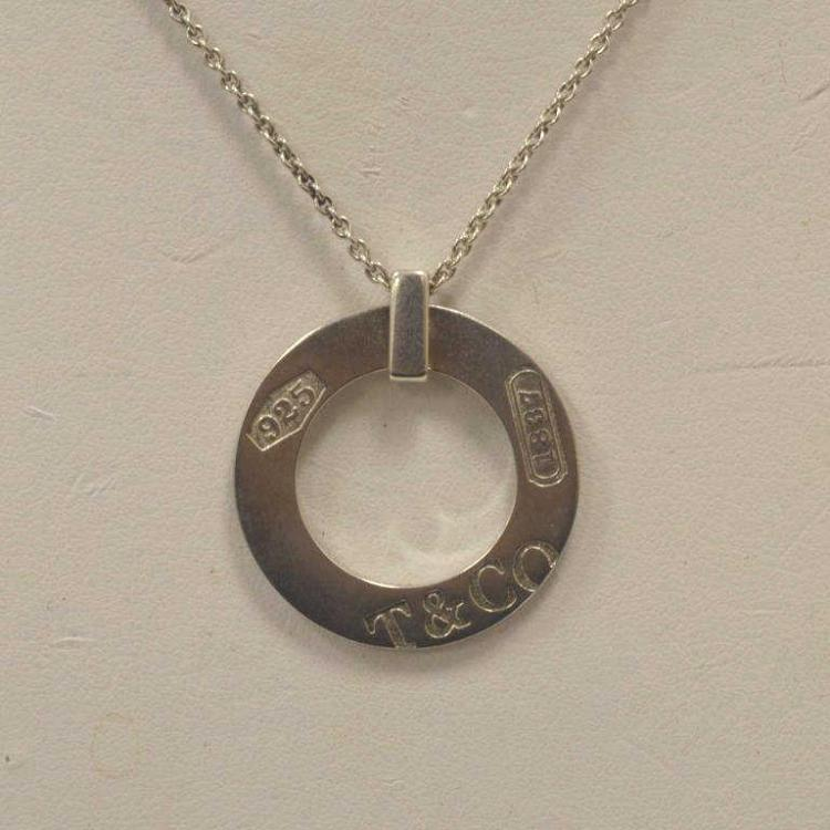 Tiffany 1837 sterling circle necklace for Gulf coast coin and jewelry