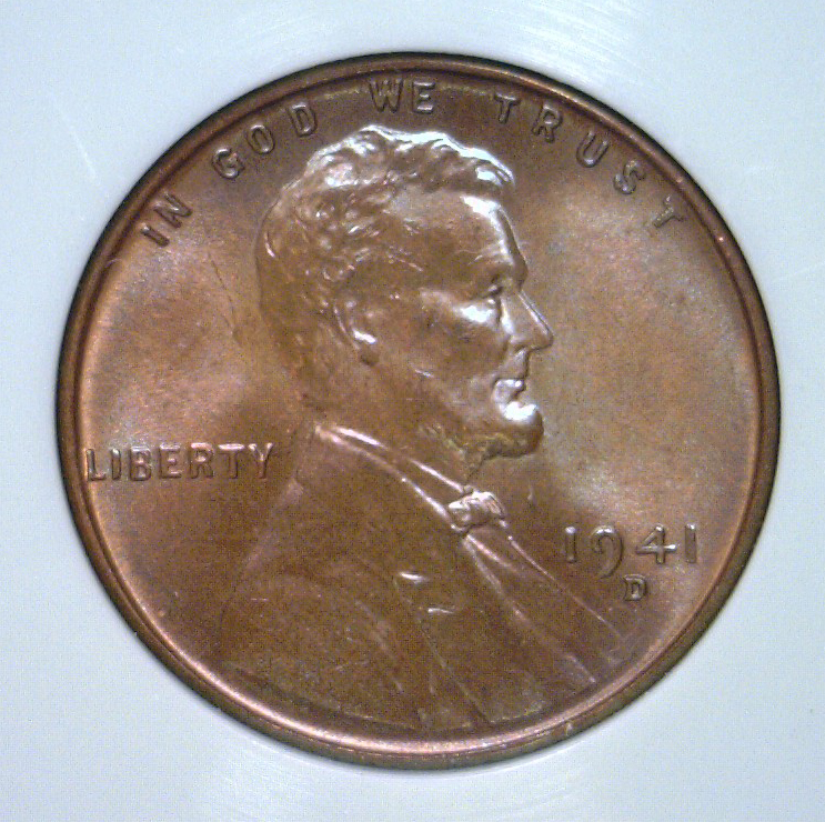1941-D Lincoln Cent Mint State Uncirculated UNC