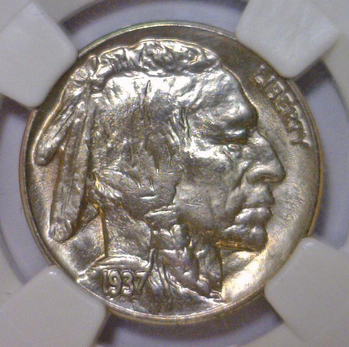 1937 Buffalo Indian Head Nickel NGC MS66
