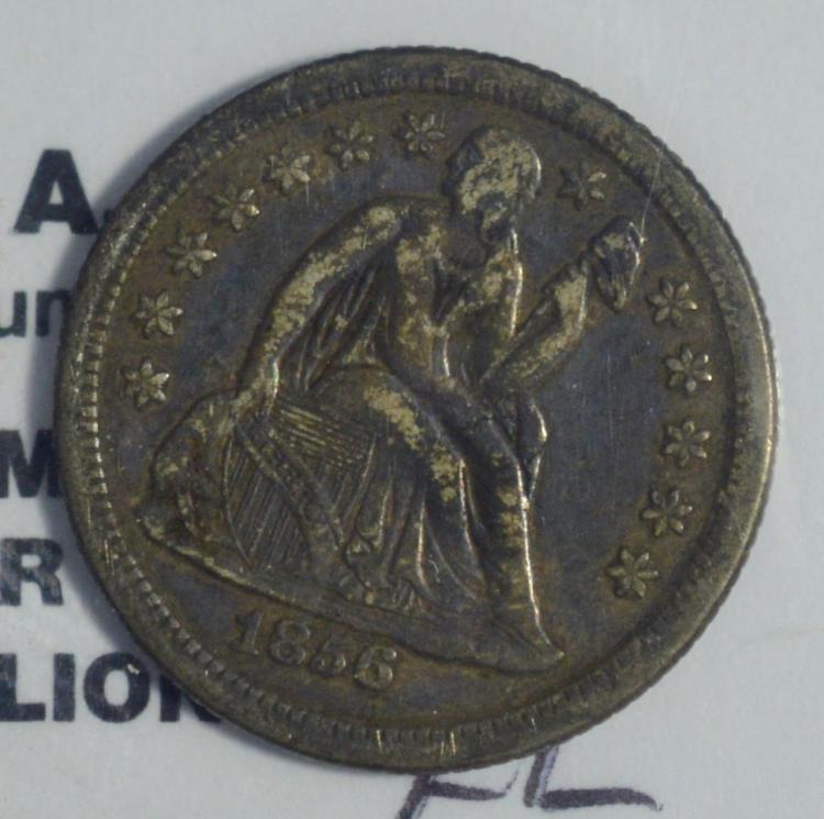 1856-O Liberty Seated Dime XF Dark
