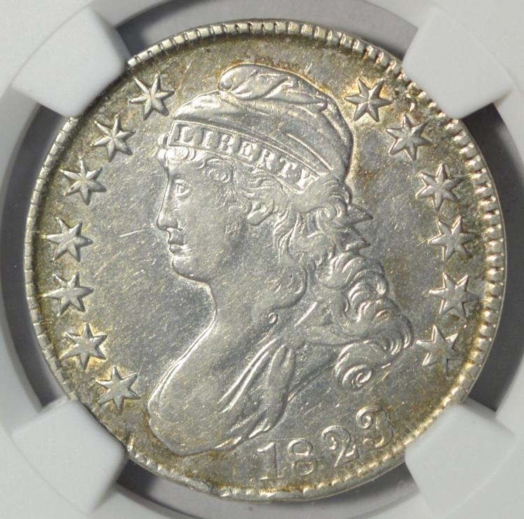 1823 Patched 3 Capped Bust Half Dollar NGC XF Det.
