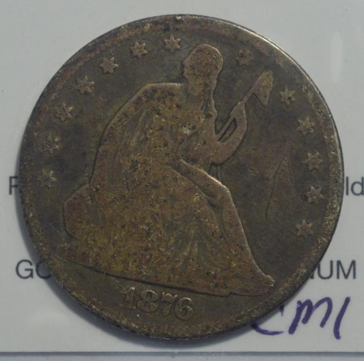 1876 Seated Liberty Half Dollar AG