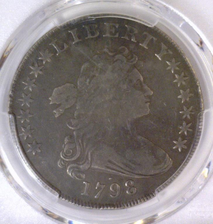1798 Draped Bust Silver Dollar 10 Arrows PCGS VF20