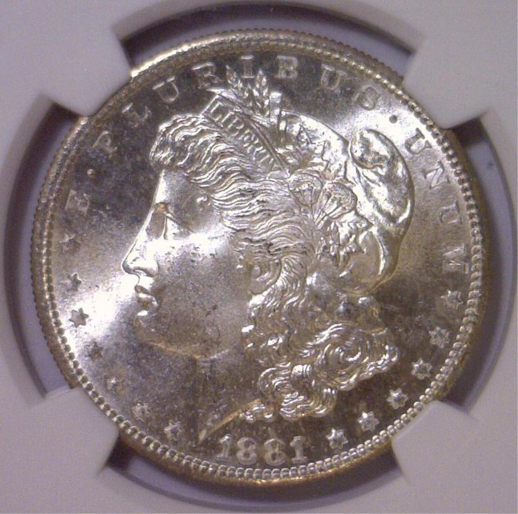 1881-S Morgan Silver Dollar NGC MS65+