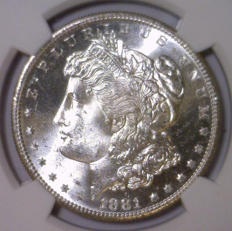 1881-S Morgan Silver Dollar NGC MS66