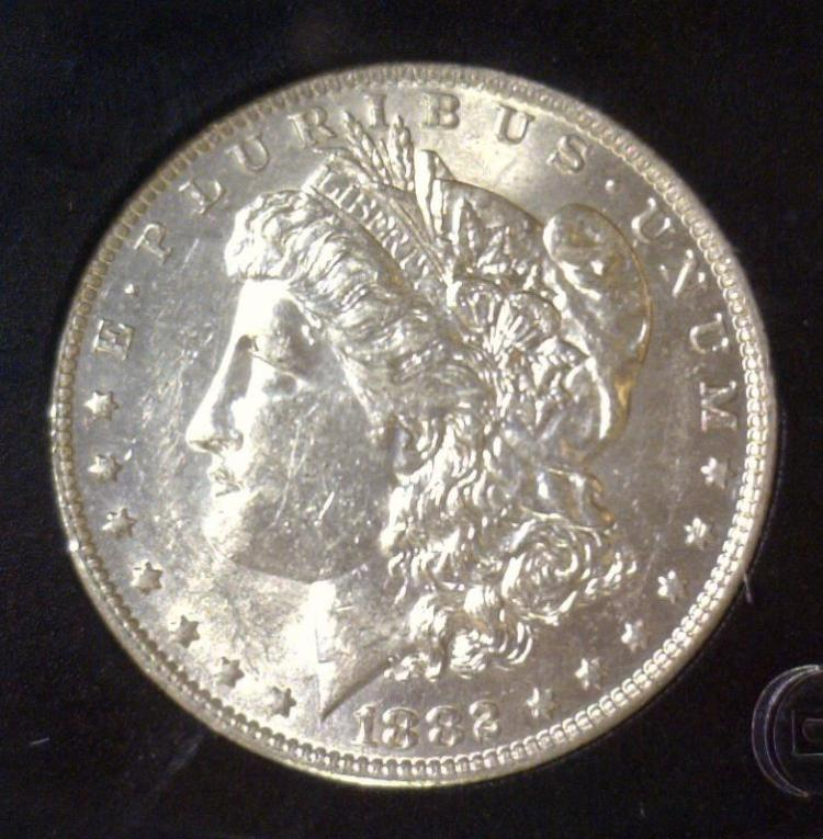 1882-O Morgan Silver Dollar BU Uncirculated UNC