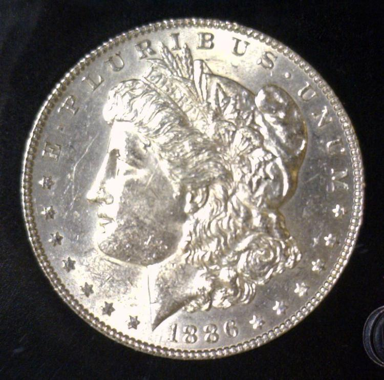1886 Morgan Silver Dollar BU Uncirculated UNC