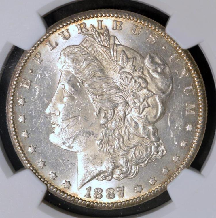 1887-S Morgan Silver Dollar NGC MS 61