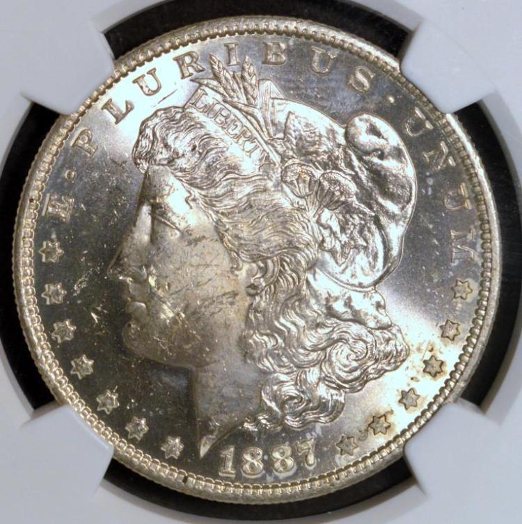 1887-S Morgan Silver Dollar NGC MS 63