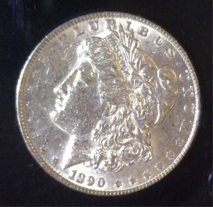 1890 Morgan Silver Dollar BU Uncirculated UNC