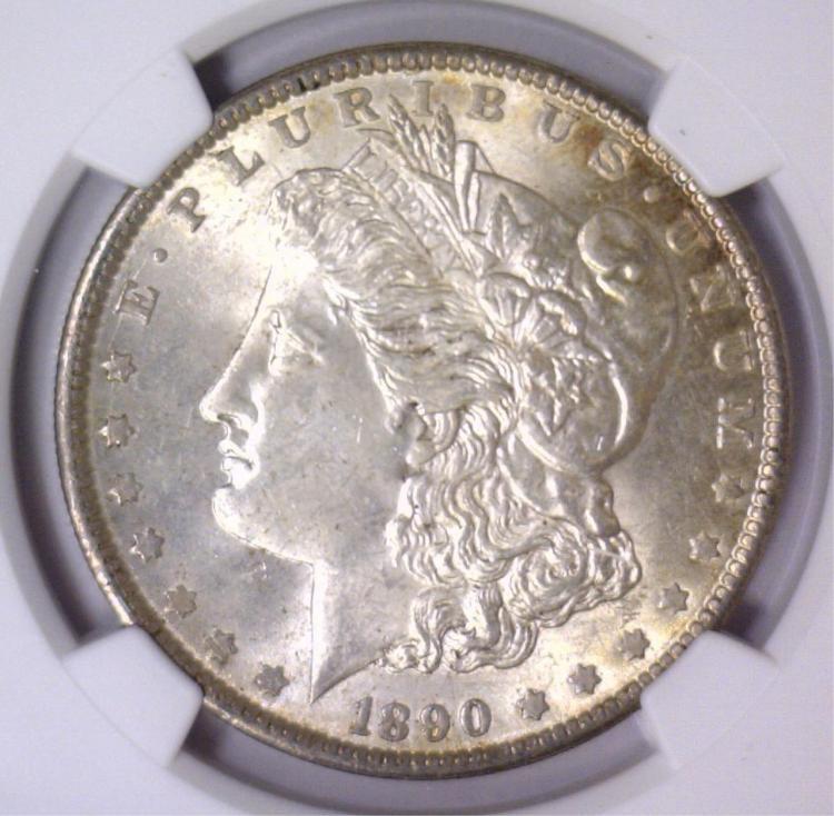 1890 Morgan Silver Dollar NGC MS63