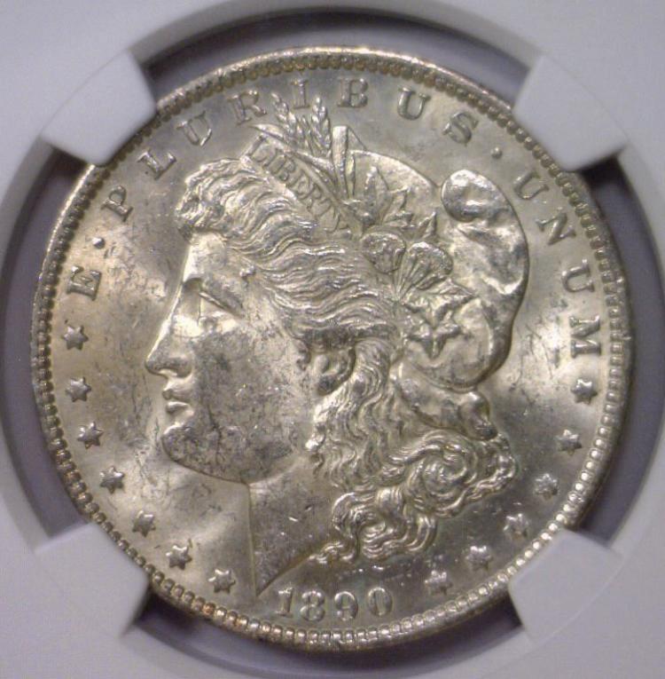 1890-O Morgan Silver Dollar NGC MS61