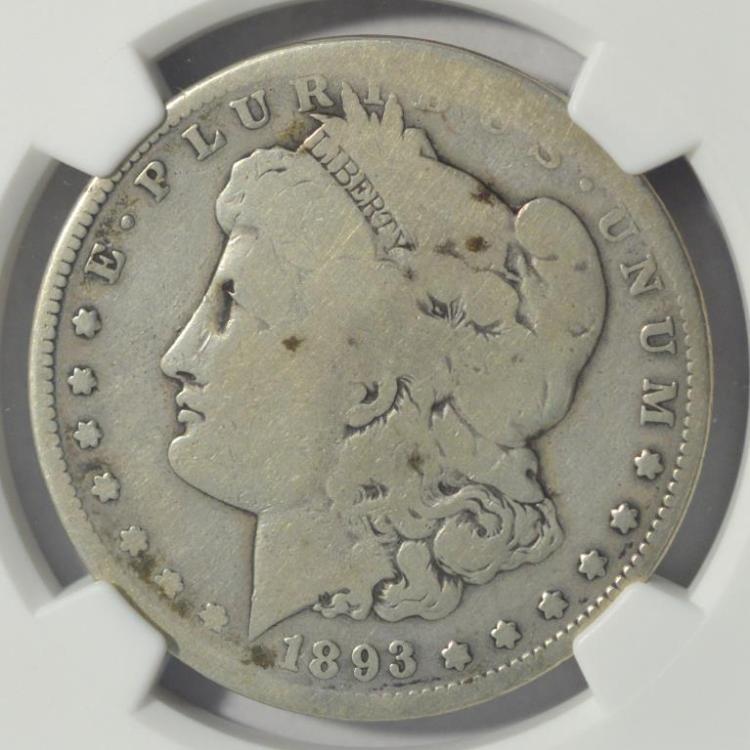 1893-S Morgan Silver Dollar NGC AG Details R/S
