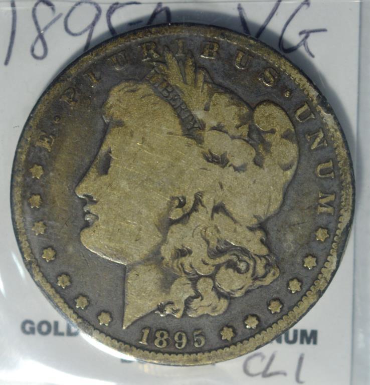 1895-O Morgan Silver Dollar VG Rim Problems