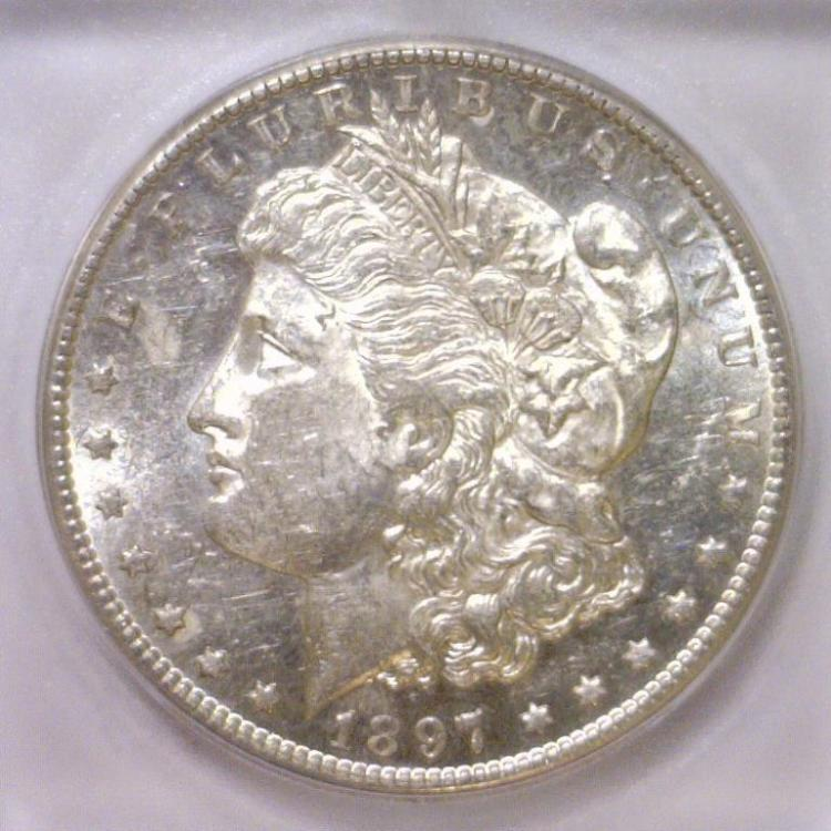 1897-S Morgan Silver Dollar ICG MS61