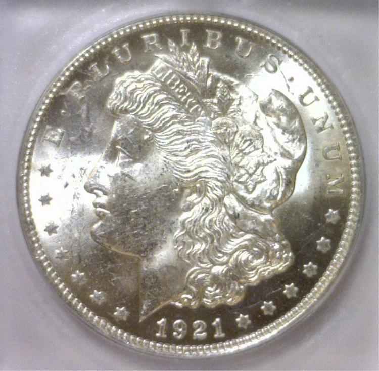 1921 Morgan Silver Dollar ICG MS63