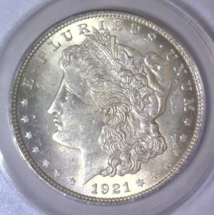 1921 Morgan Silver Dollar ANACS MS63