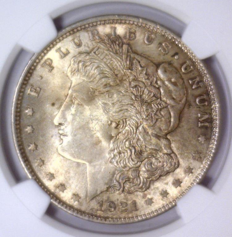 1921 Morgan Silver Dollar NGC MS63