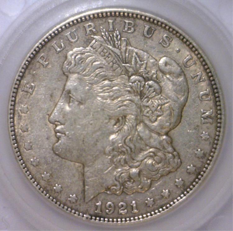 1921-D Morgan Silver Dollar EF Extra Fine XF