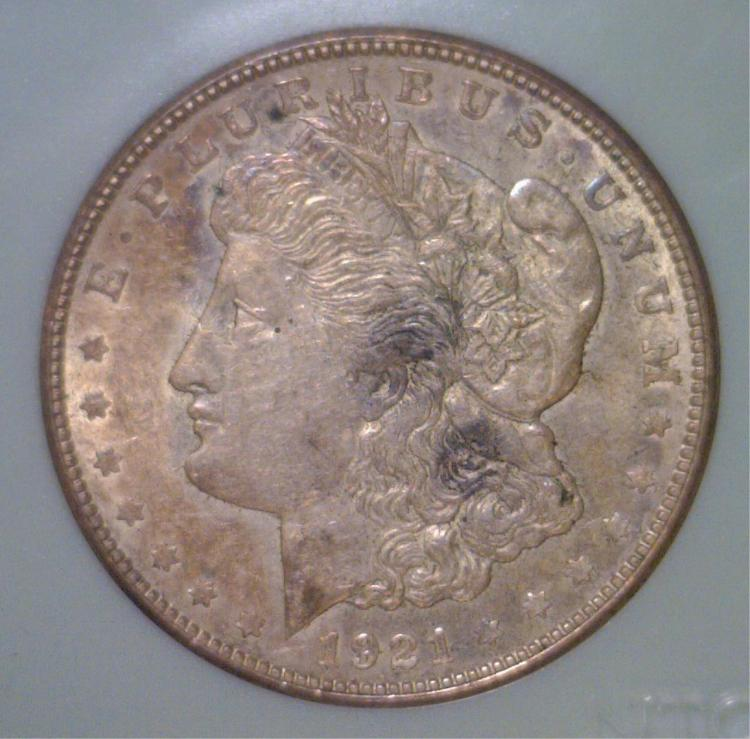 1921-D Morgan Silver Dollar Extra Fine XF
