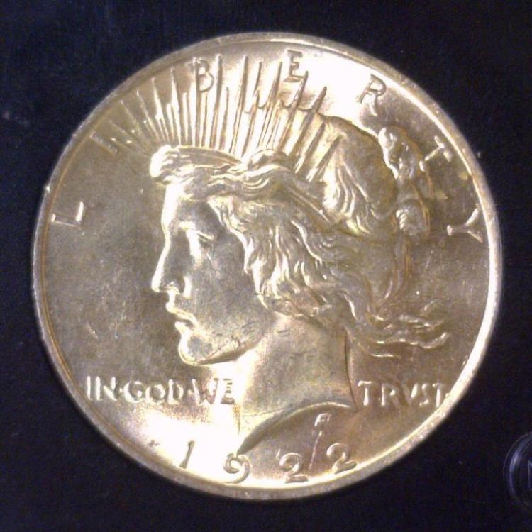 1922 Peace Silver Dollar BU Uncirculated UNC