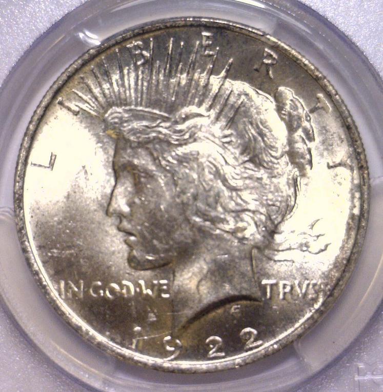 1922 Peace Silver Dollar PCGS MS65