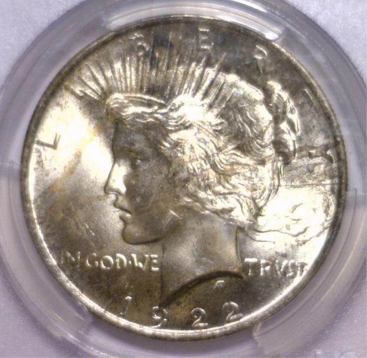 1922 Peace Silver Dollar PCGS MS65