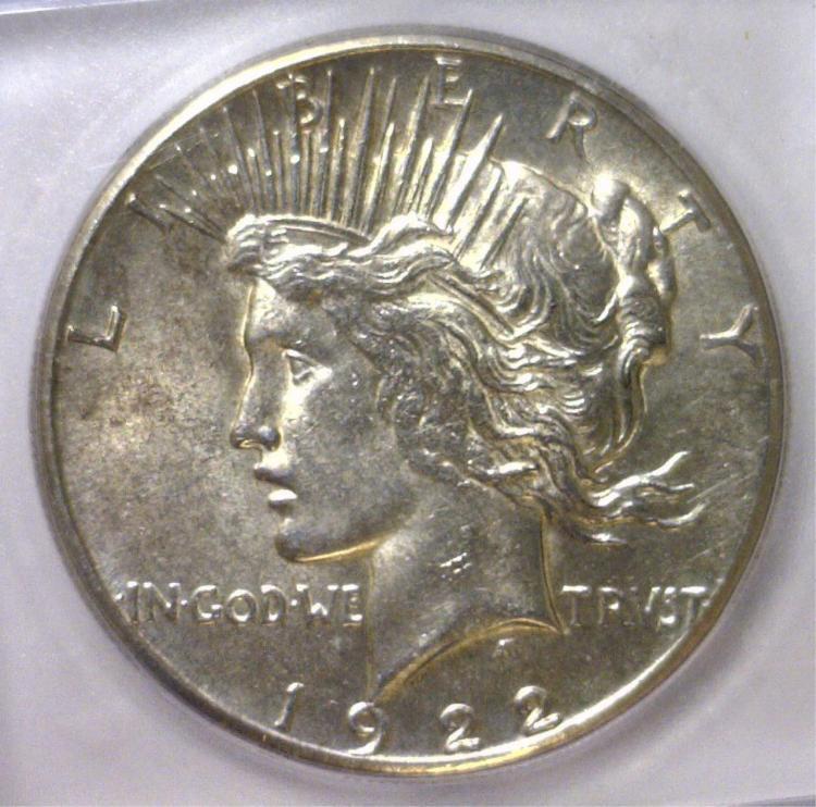 1922-S Peace Silver Dollar ICG MS62