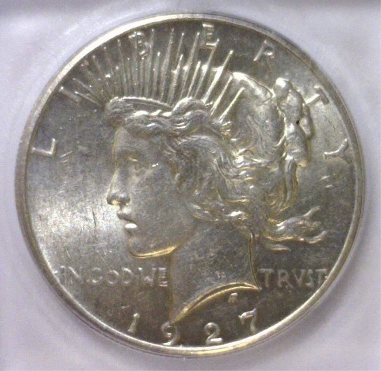 1927 Peace Silver Dollar ICG MS62