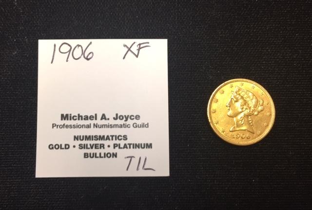 1906 $5 Liberty Gold Half Eagle XF++