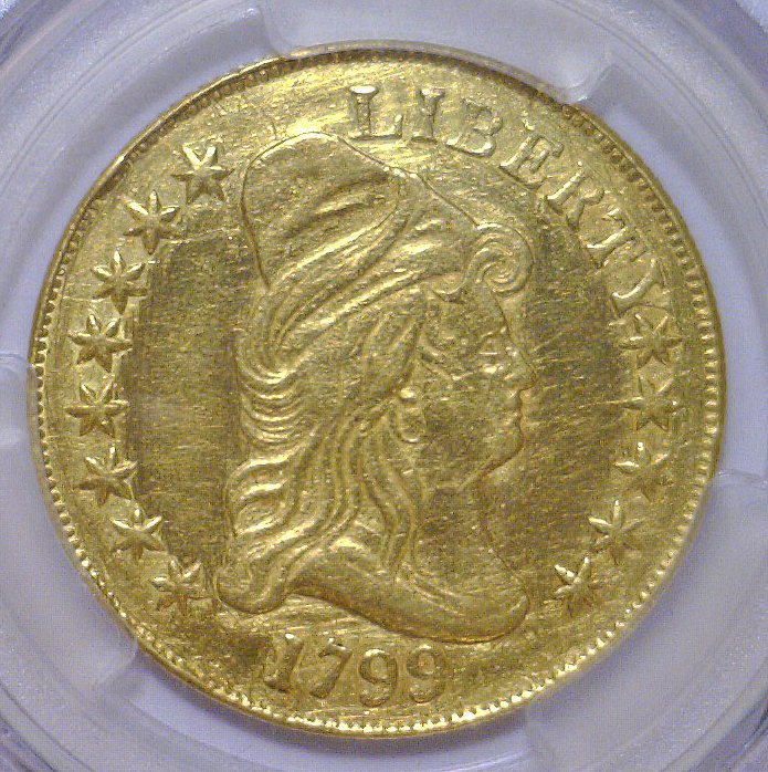 1799 $10 Capped Bust Gold Eagle PCGS XF Details