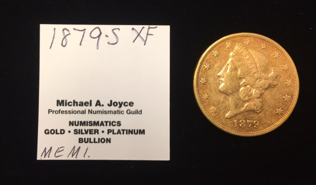 1879-S $20 Liberty Gold Double Eagle XF