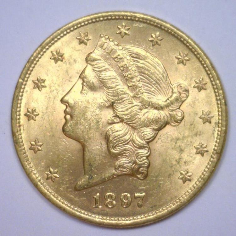 1897 $20 Liberty Gold Double Eagle BU