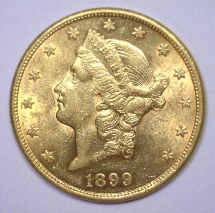 1899-S $20 Liberty Gold Double Eagle BU