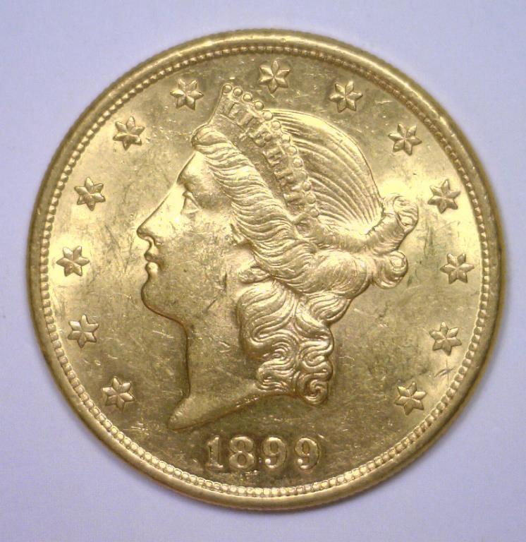 1899-S $20 Liberty Gold Double Eagle BU MS63