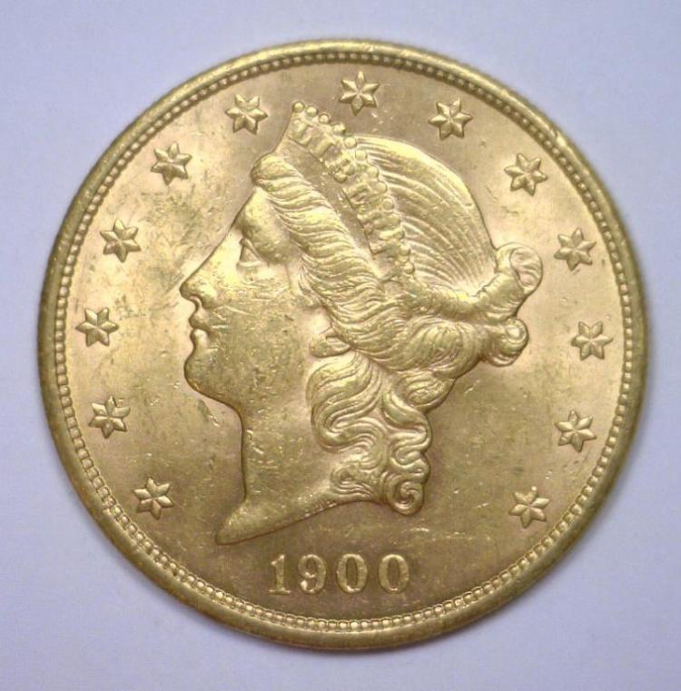1900 $20 Liberty Gold Double Eagle BU