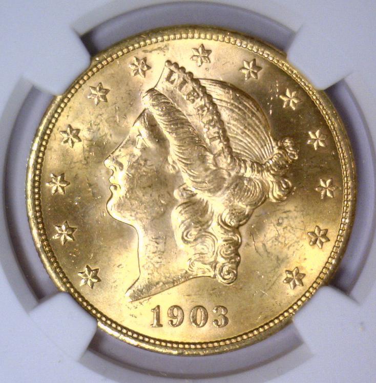1903 $20 Liberty Double Eagle Gold NGC MS64