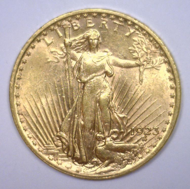 1923 $20 St. Gaudens Gold Double Eagle BU