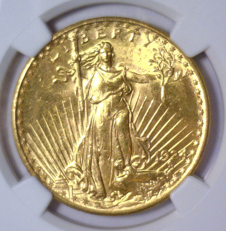 1924 $20 St. Gaudens Gold Double Eagle NGC MS64