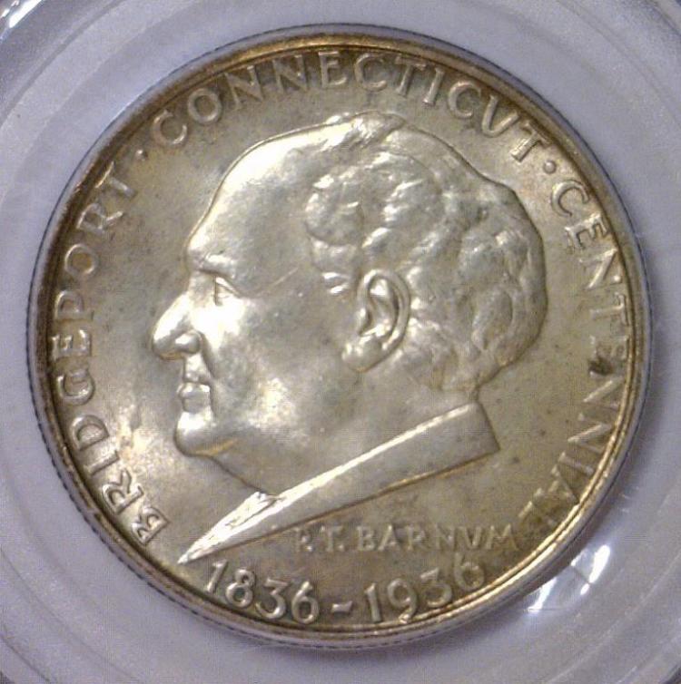 1936 Bridgeport Silver Commem. Half PCGS MS64