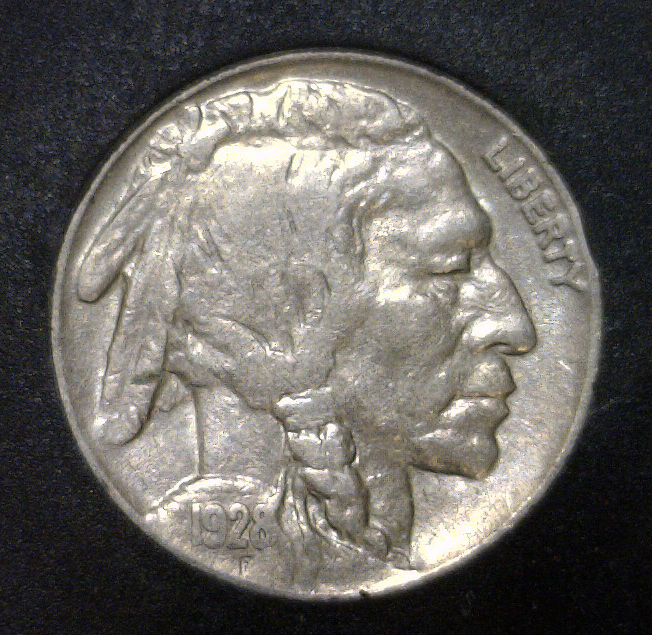 1928 Buffalo Indian Head Nickel AU/UNC