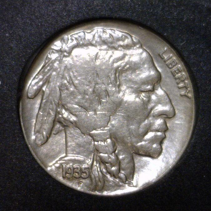 1935 Buffalo Indian Head Nickel AU/UNC